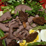 Spring Tonic Salad With Deer Heart and Morels